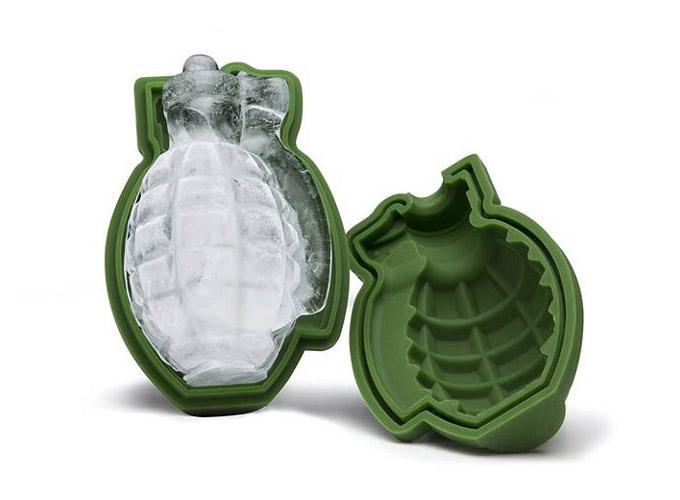 A Grenade Shaped Ice Mold