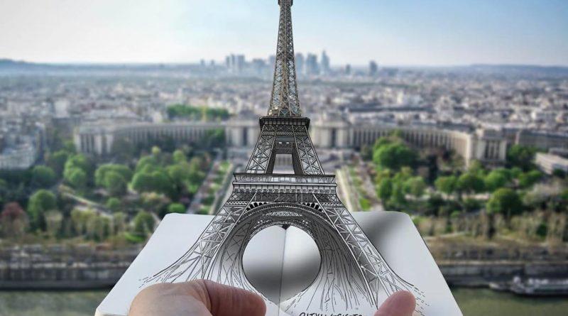 Cet illustrateur donne vie aux monuments célèbres avec son petit carnet de voyage