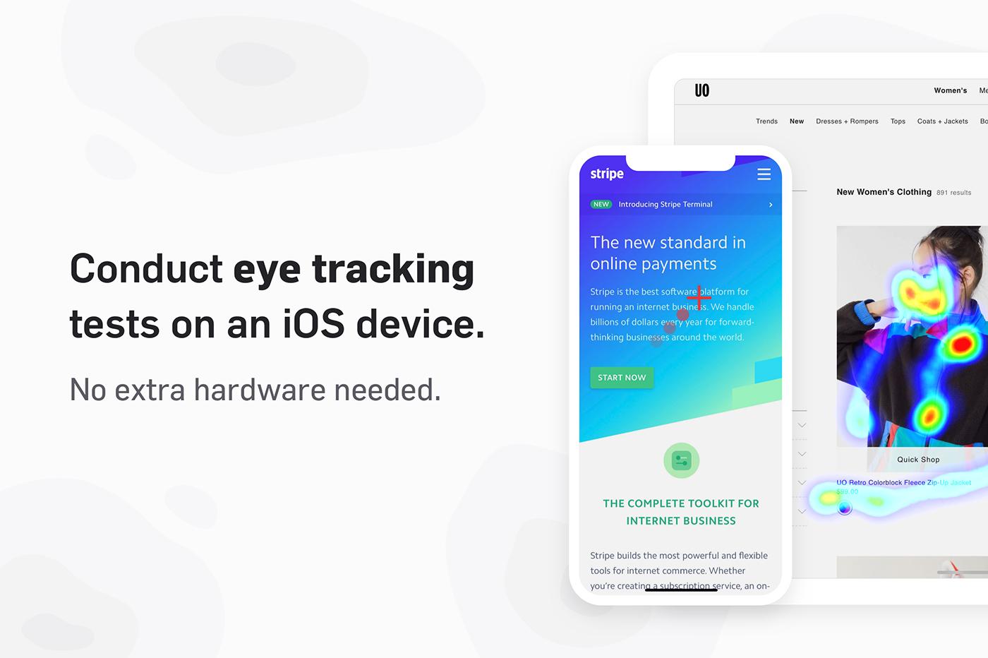 Une application de eye tracking gratuite sur l'App Store