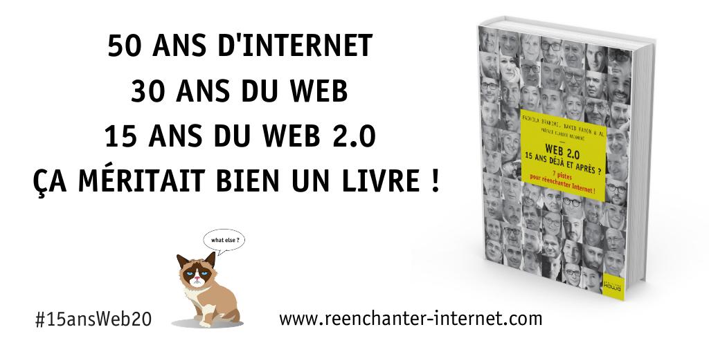 Un livre sur les 15ans du Web20 ! #15ansWeb20
