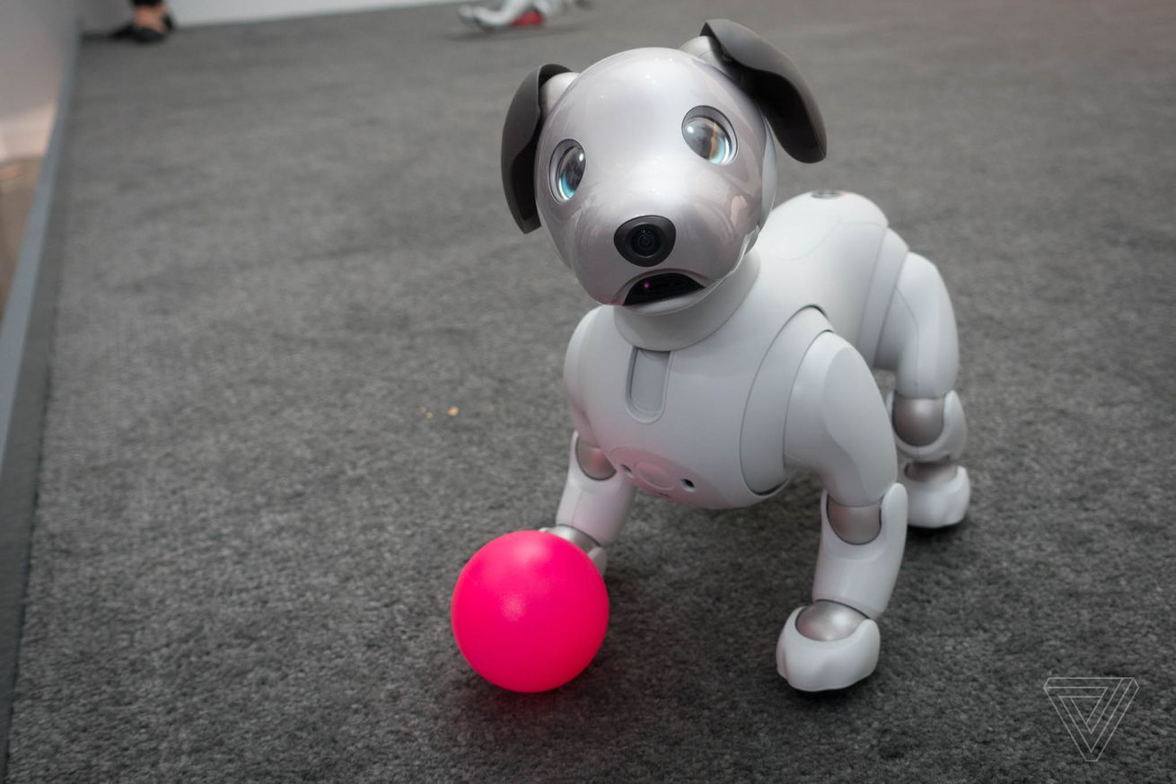 I played with Sony's new Aibo robot dog, and I miss it already