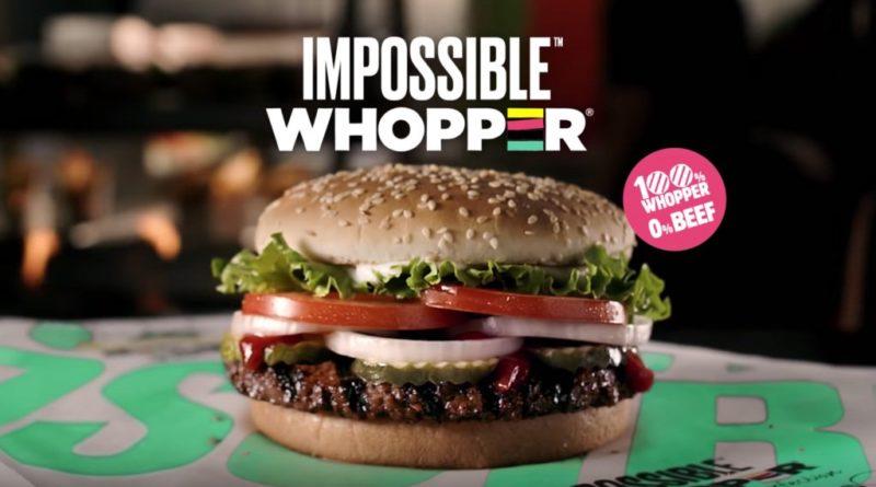 Burger King commence à vendre un Whopper sans boeuf