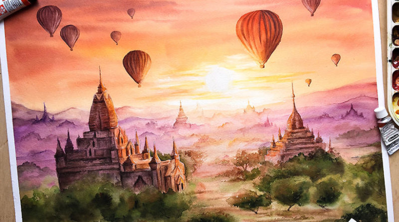 Watercolor Landscapes to Visually Travel