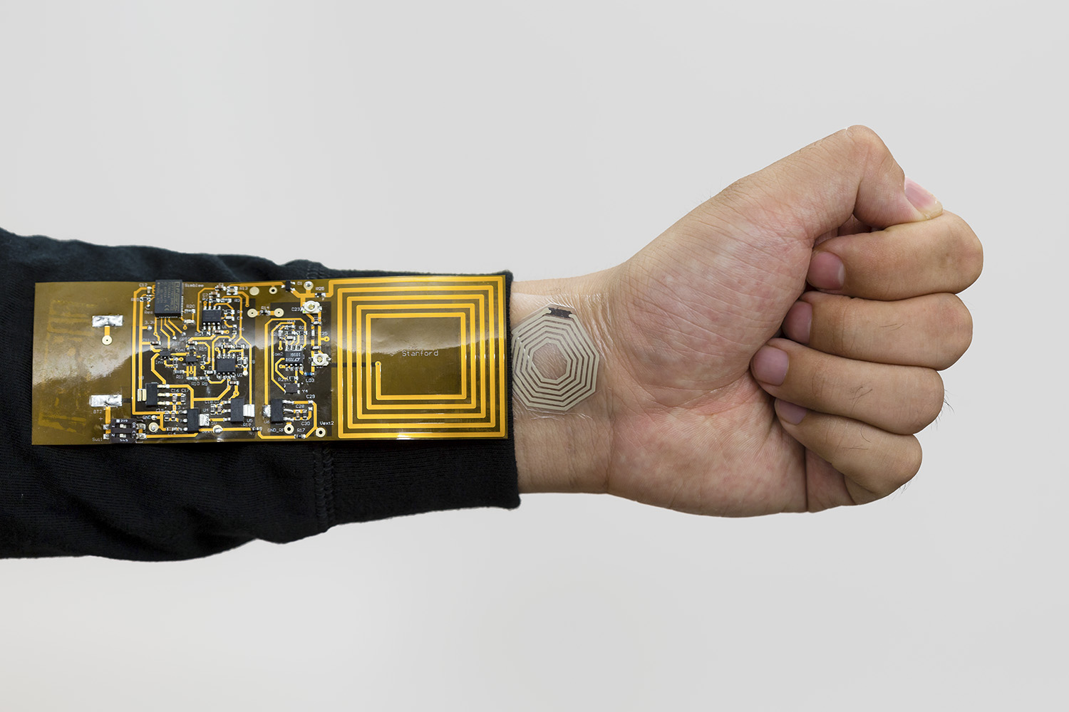 Flexible stick-on sensors could wirelessly monitor your sweat and pulse